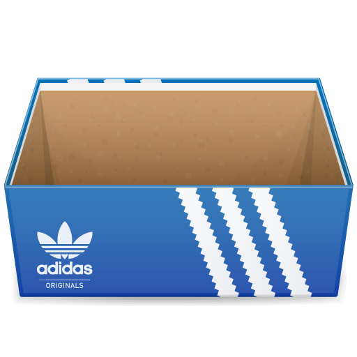 Box Material Adidas Brand Shoebox Open PNG Image