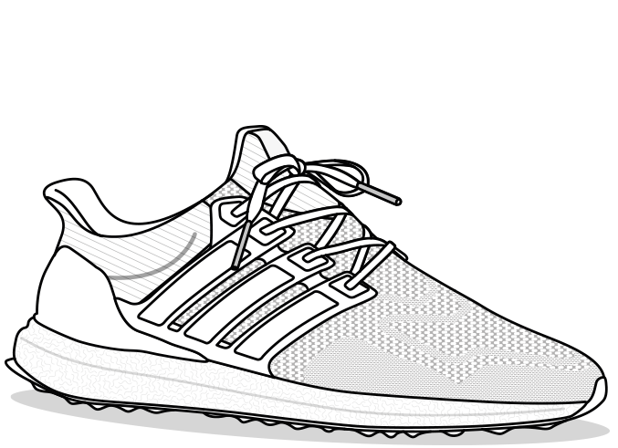 Adidas Mens Sneakers 3.0 Ultra Boost PNG Image