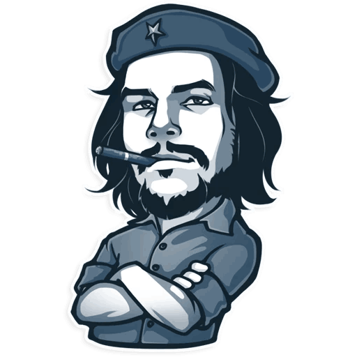 Guevara Che Telegram Sticker Che: One Part PNG Image