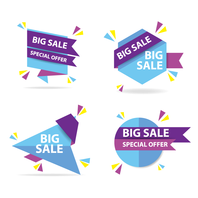 Box Web Set Shopping Colorful Discount Sale PNG Image