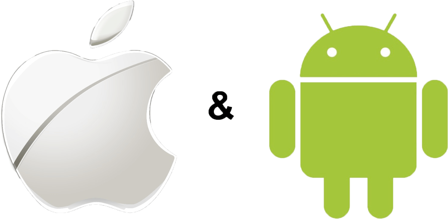Logo Android Vs Apple Iphone Free HQ Image PNG Image