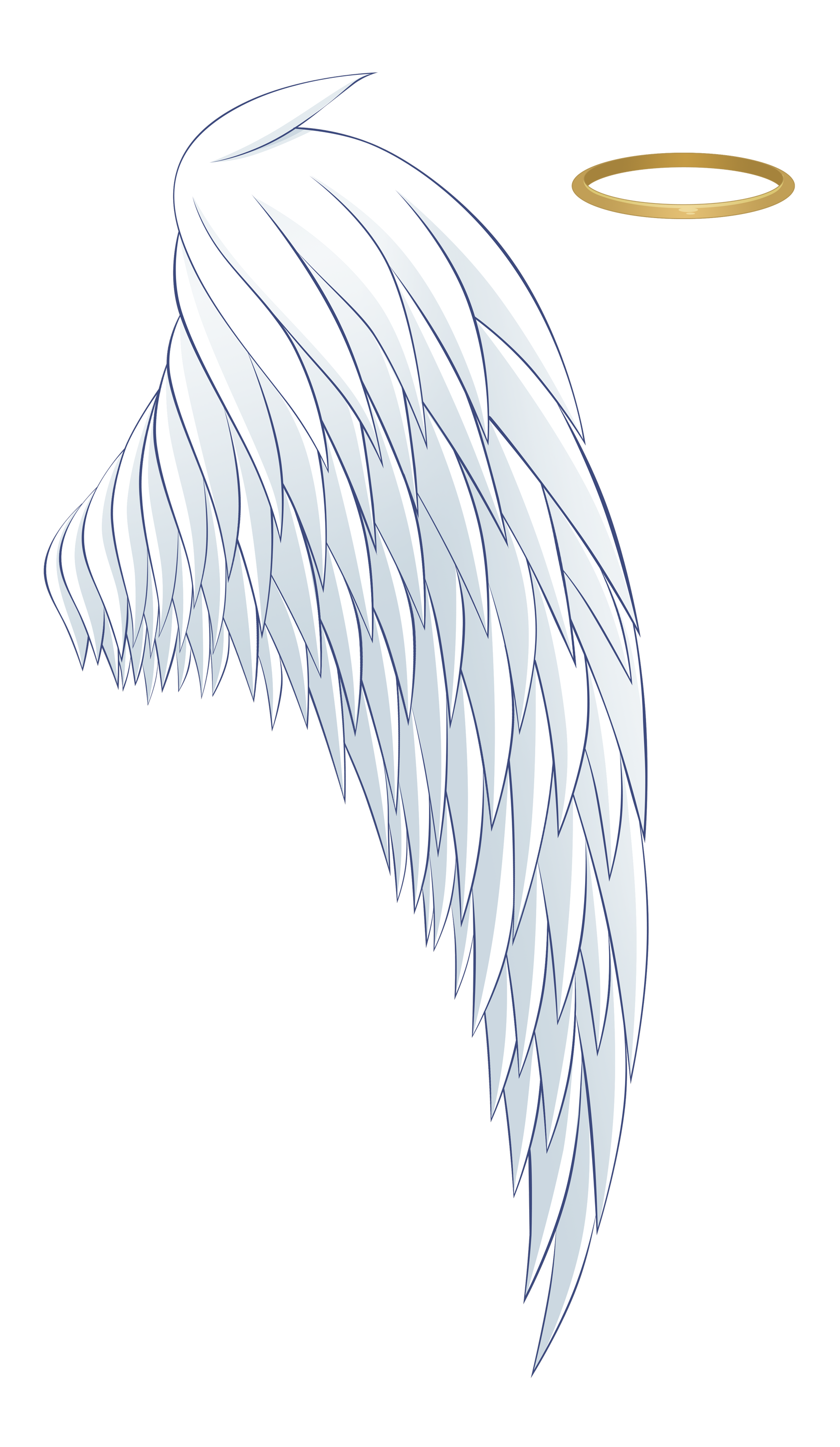 And Angel Wing Aureola White Wings Halo PNG Image