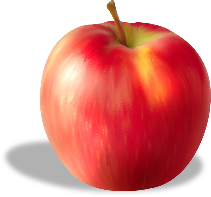 Fruit Apple Red Free Frame PNG Image