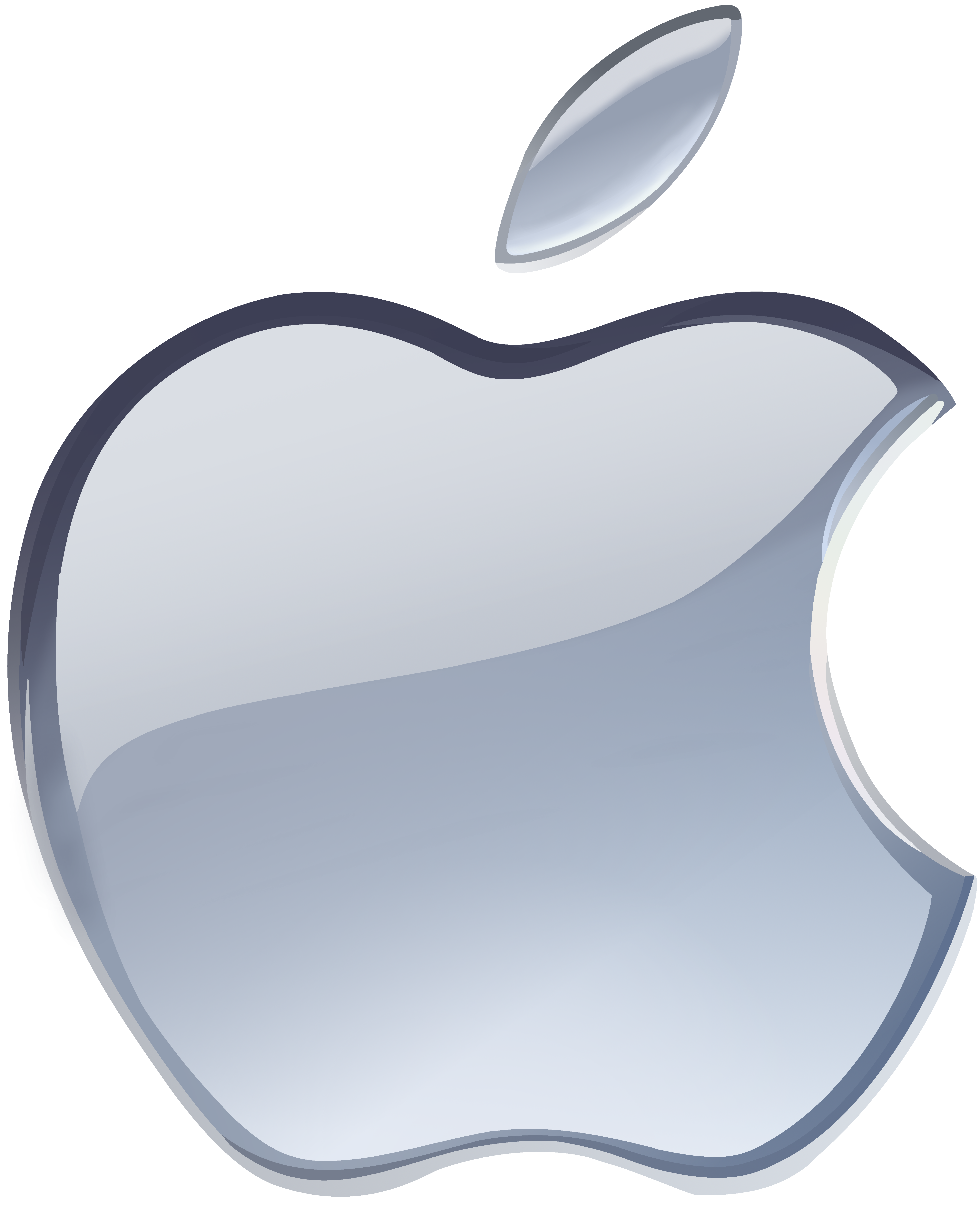 Logo Apple Silver PNG File HD PNG Image
