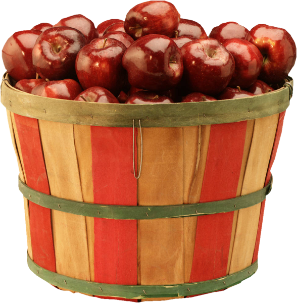 Apple Of Cider Pie Caramel Apples Basket PNG Image