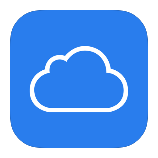 Blue Electric Area Text Symbol Apps Icloud PNG Image