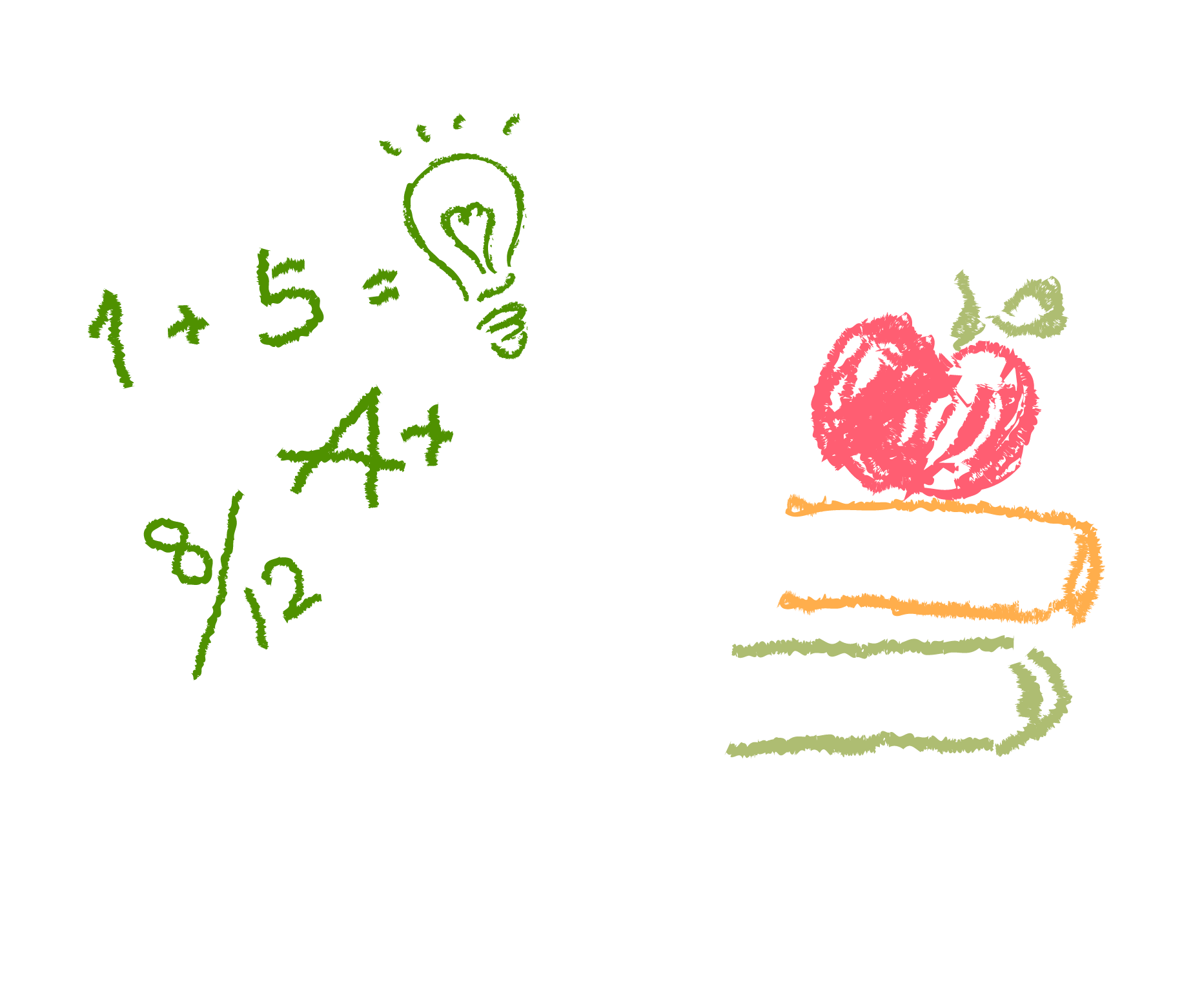 Apple Blackboard Material Chalk Paper Drawing PNG Image