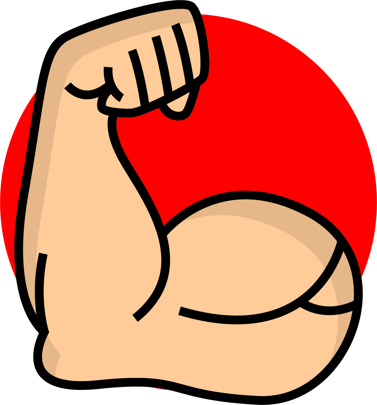 Limb Upper Strong Arm Icon Free Download Image PNG Image