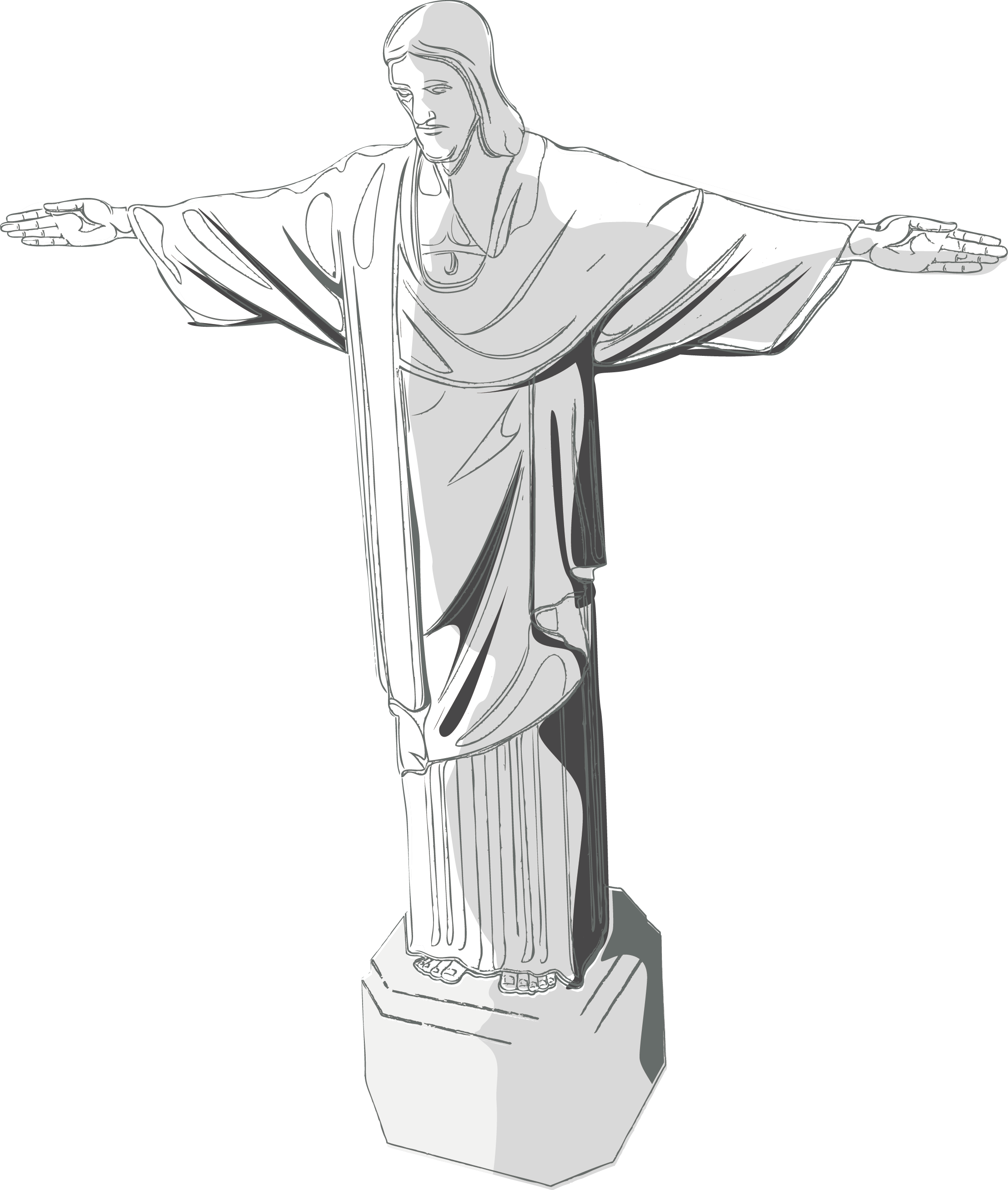Christ Jesus Redeemer As Vector The PNG Image