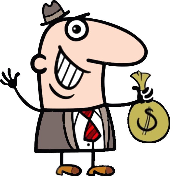 Restaurant Illustration Wallet Businessman With Cartoon Stock PNG Image