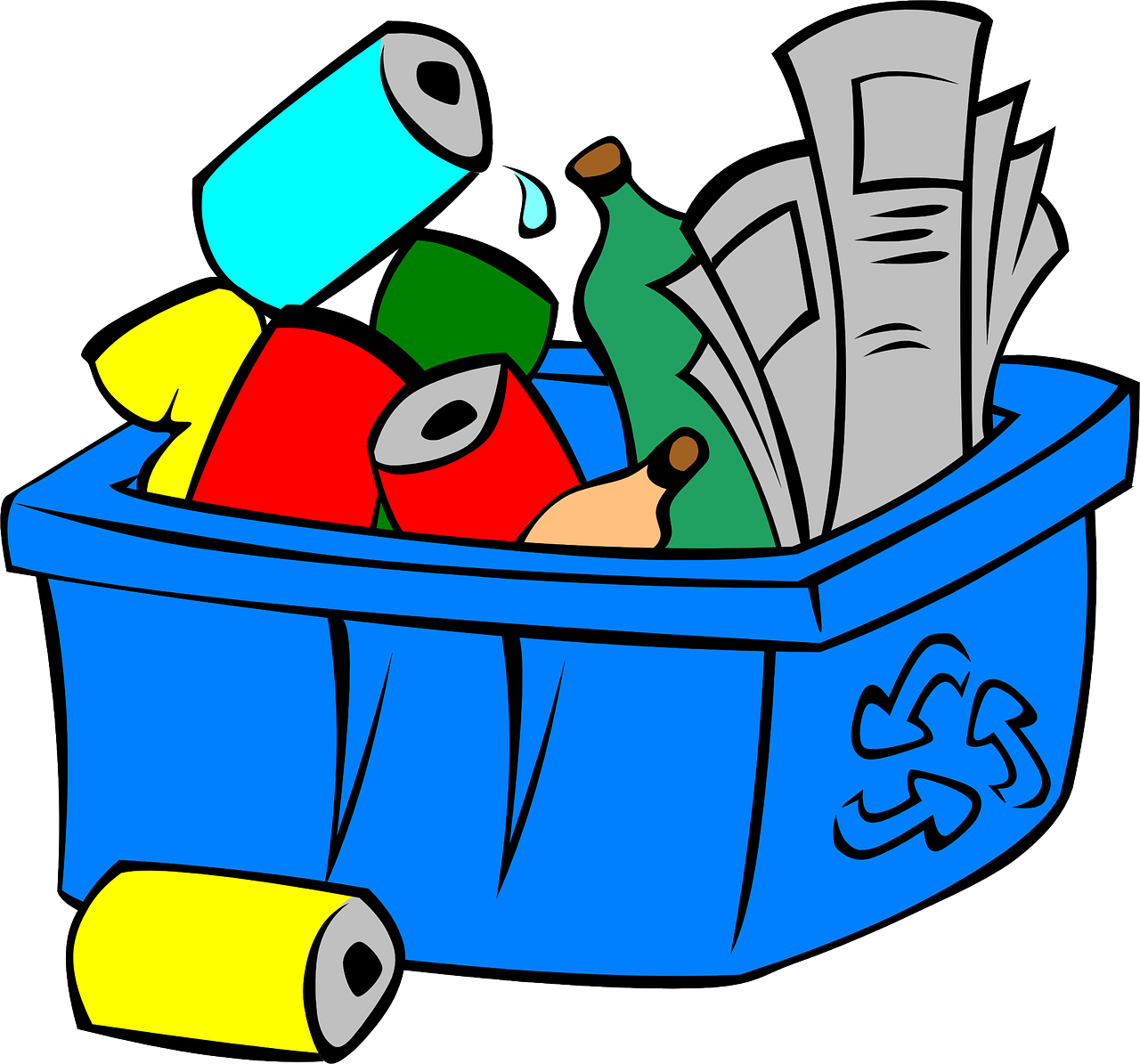 Recycling Science Materials Bins Garbage Free Transparent Image HD PNG Image