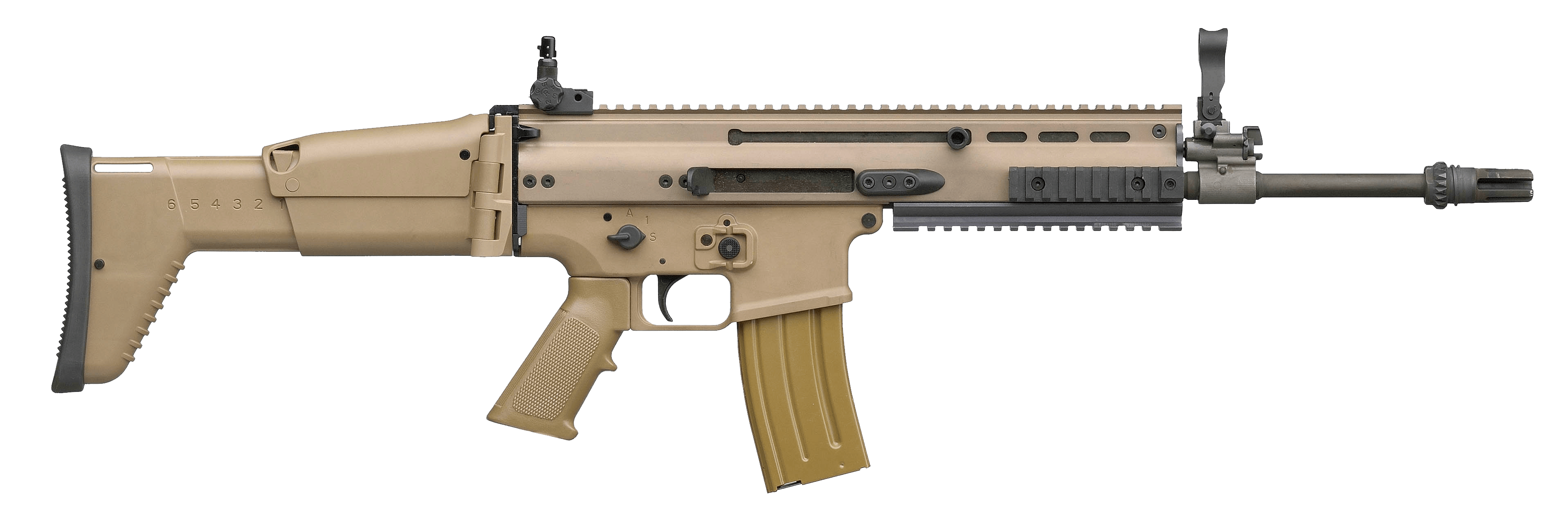 Scar Assault Rifle Png PNG Image
