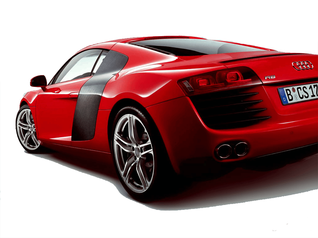Red R8 Audi Png Car Image PNG Image