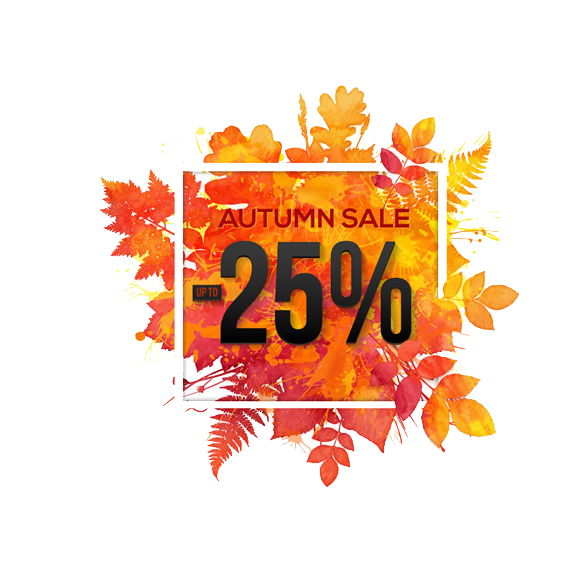 Colored Poster Leaves Sales Royalty-Free Autumn PNG Image
