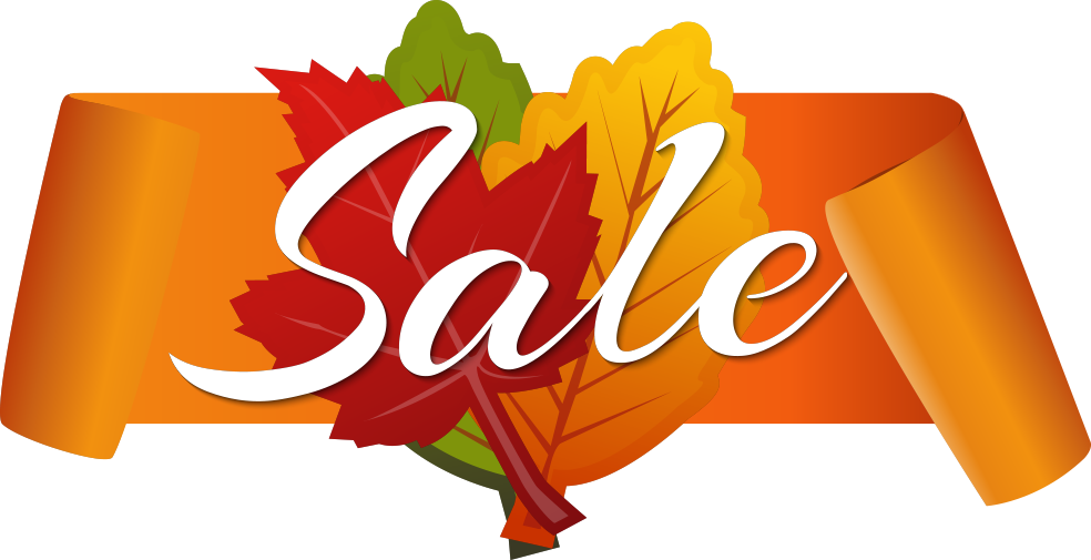 Autumn Discount Vector Sale Free Clipart HD PNG Image