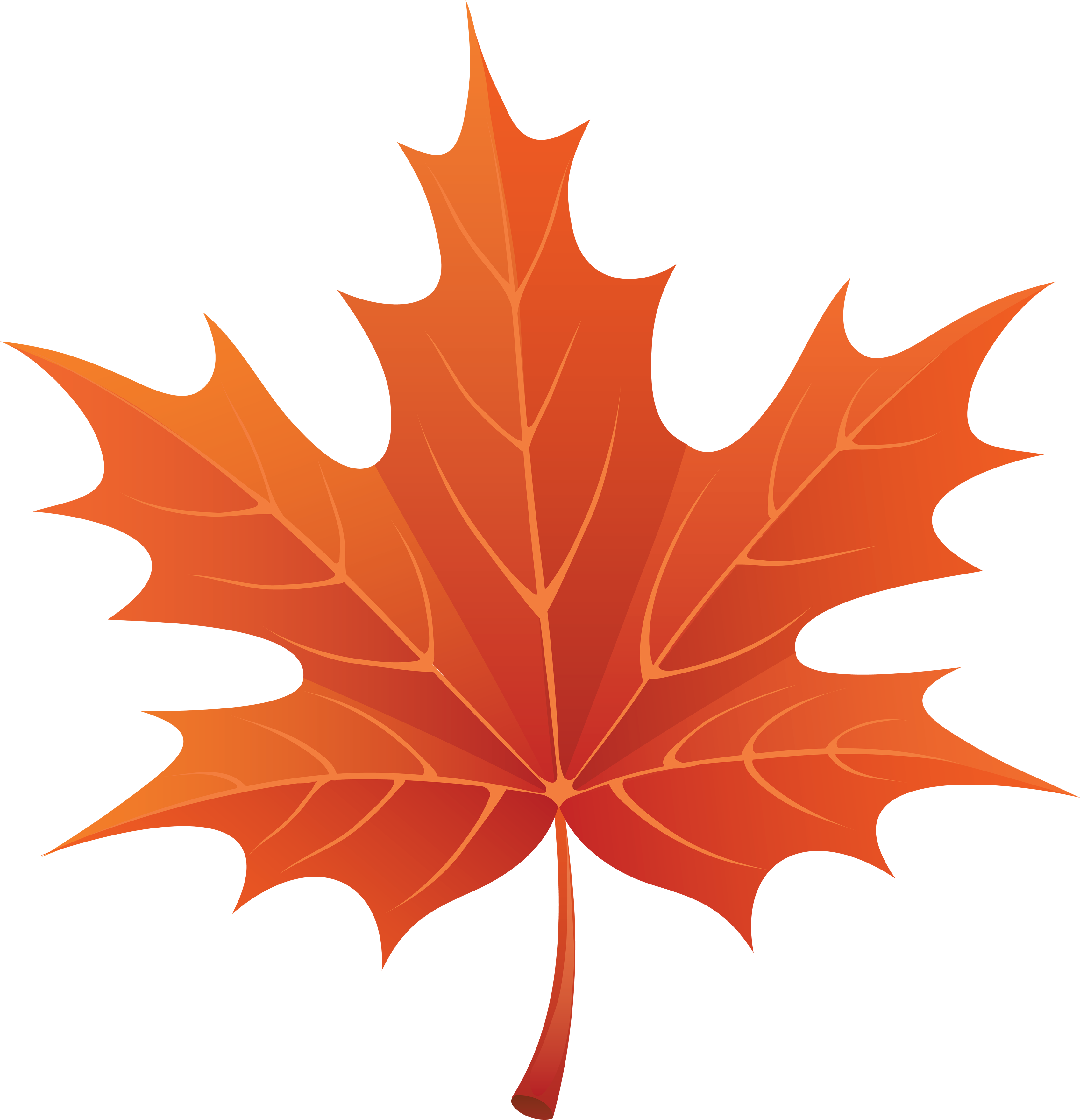 Autumn Fall Leaves Clip Art PNG Image