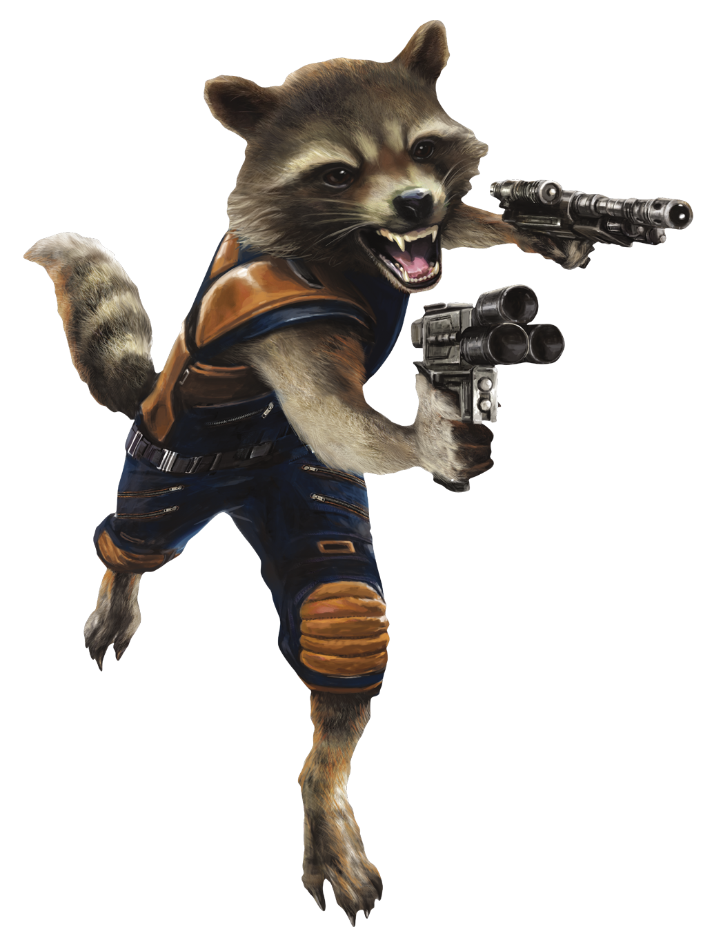 Rocket Character Fictional Snout Starlord Raccoon Thanos PNG Image