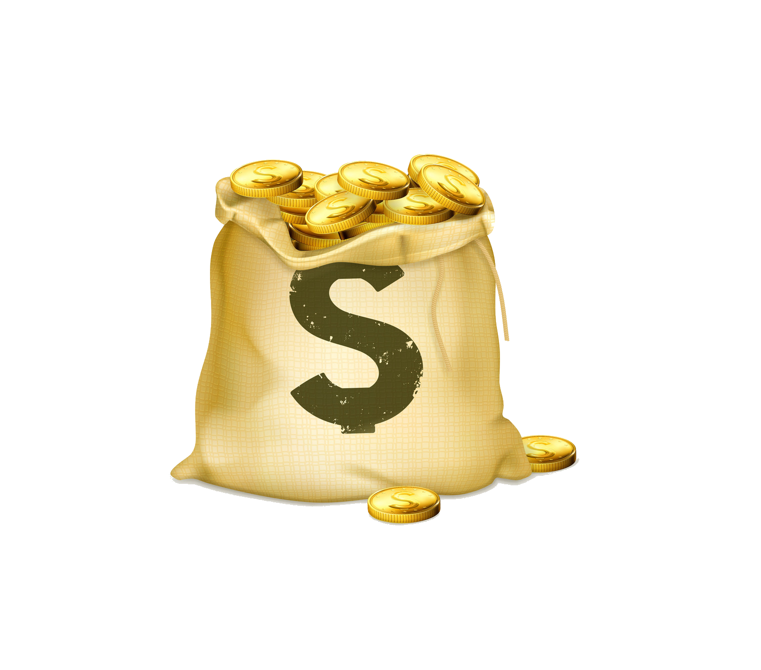 Bag Coin Coins Gold Of Free PNG HQ PNG Image
