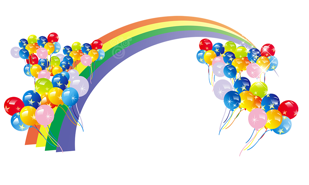 Color Rainbow Balloon Rainbow,Decoration,Background Free HD Image PNG Image