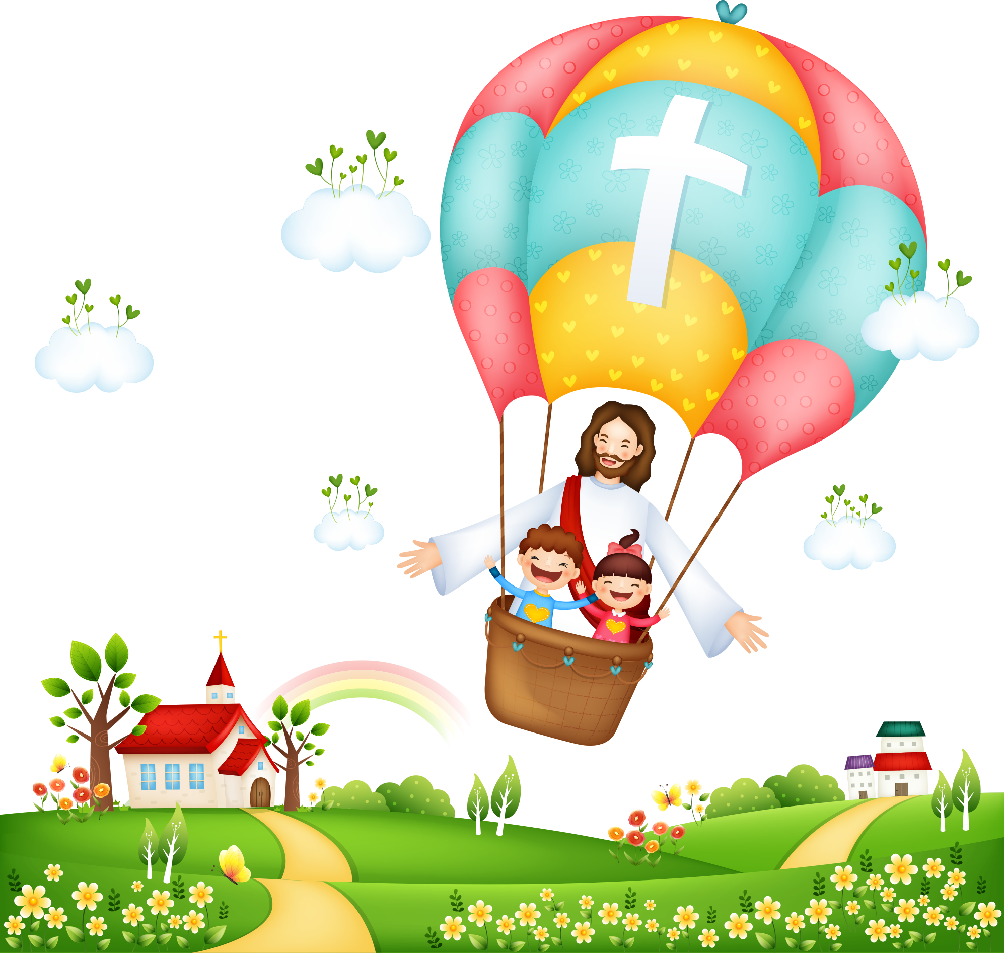 And On Balloon Illustration Jesus Hot The PNG Image