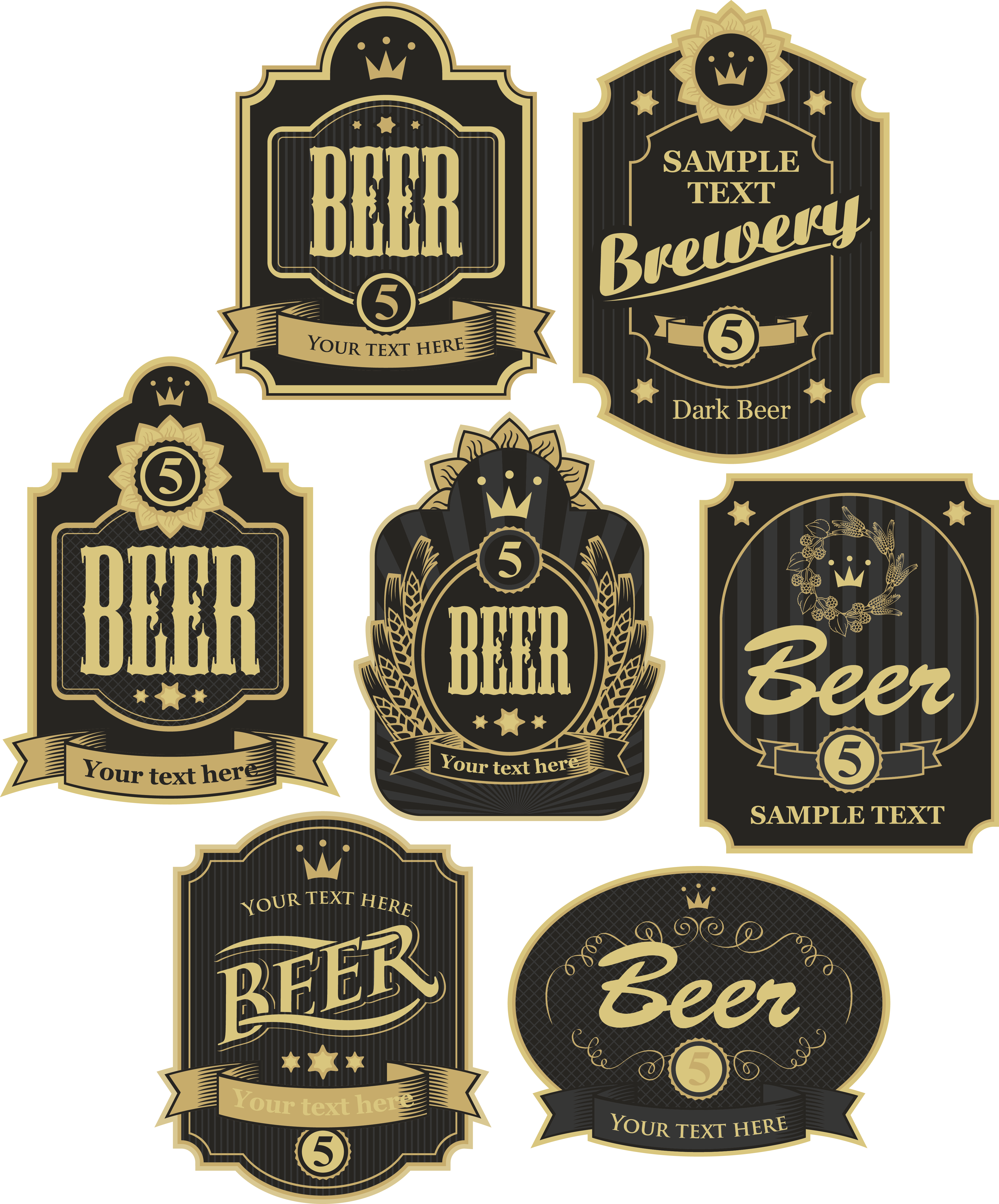 Vintage Beer Icon Sticker Label HQ Image Free PNG PNG Image