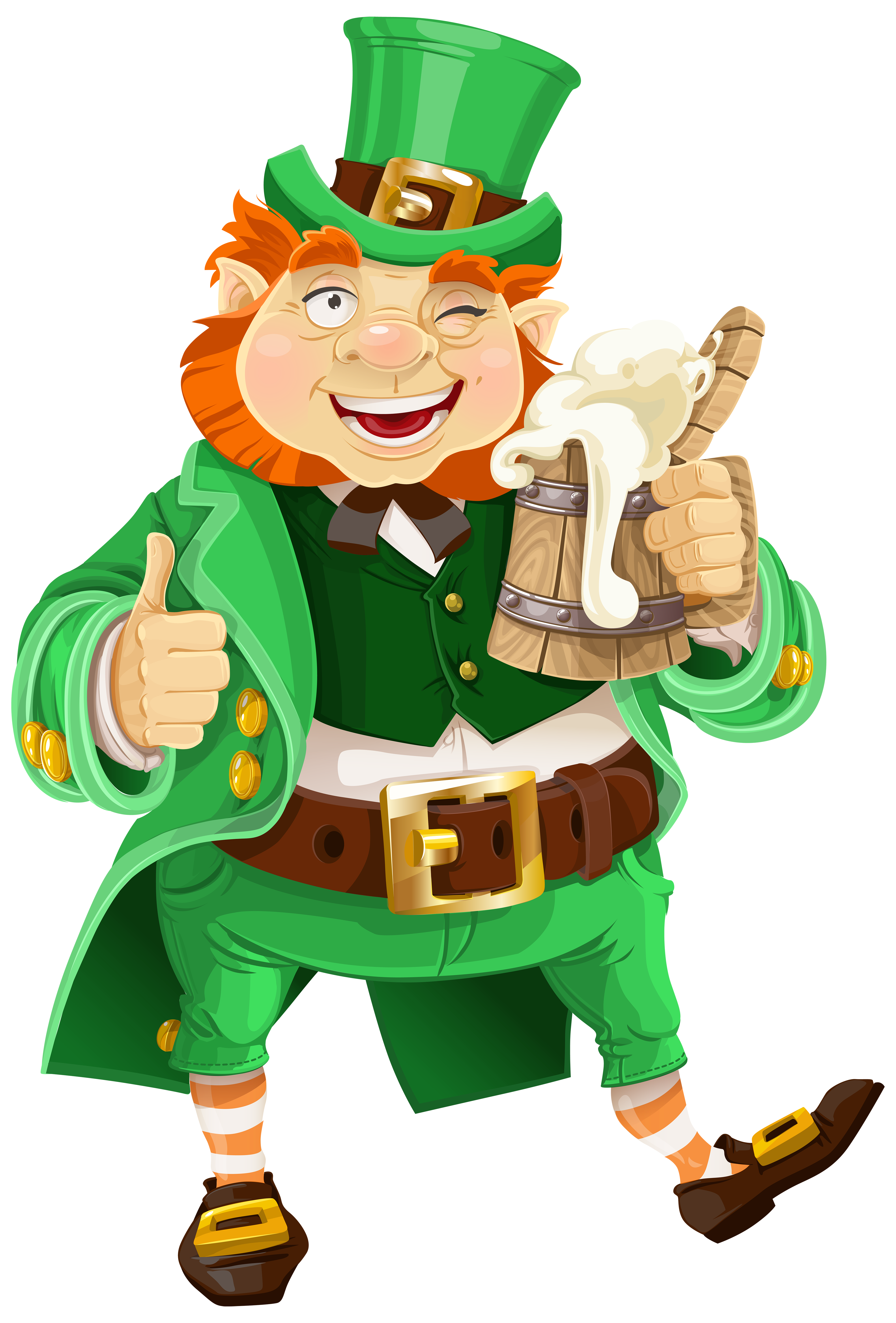 Art Food Patrick Beer Saint Leprechaun Day PNG Image