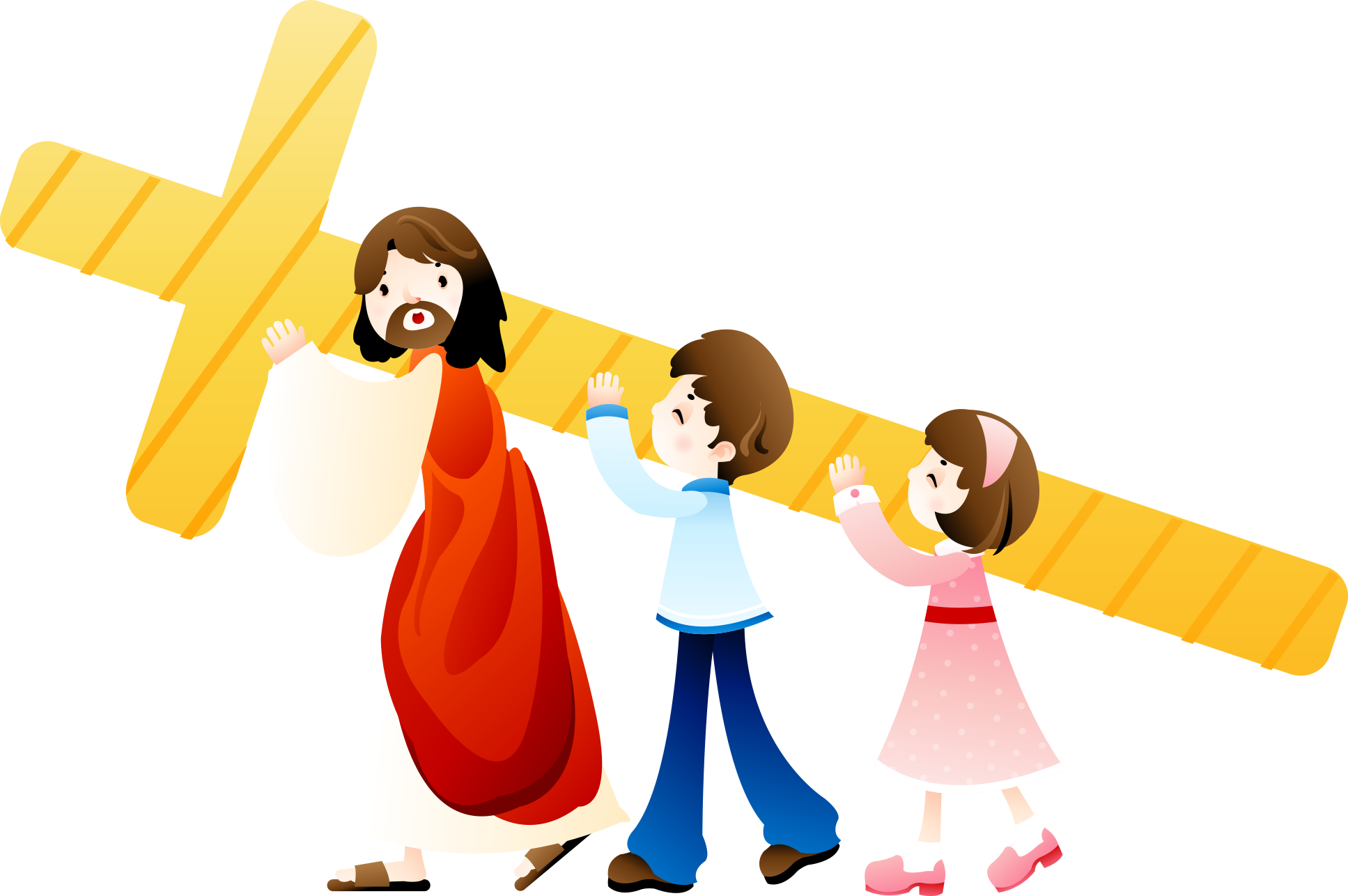 Bible Cross Jesus Holding Child Christianity PNG Image
