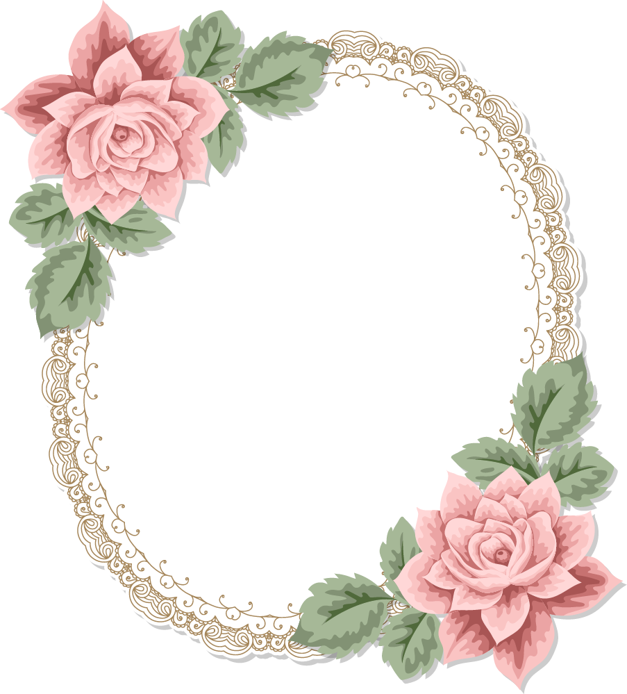 European-Style Flower Border Free Download PNG HD PNG Image