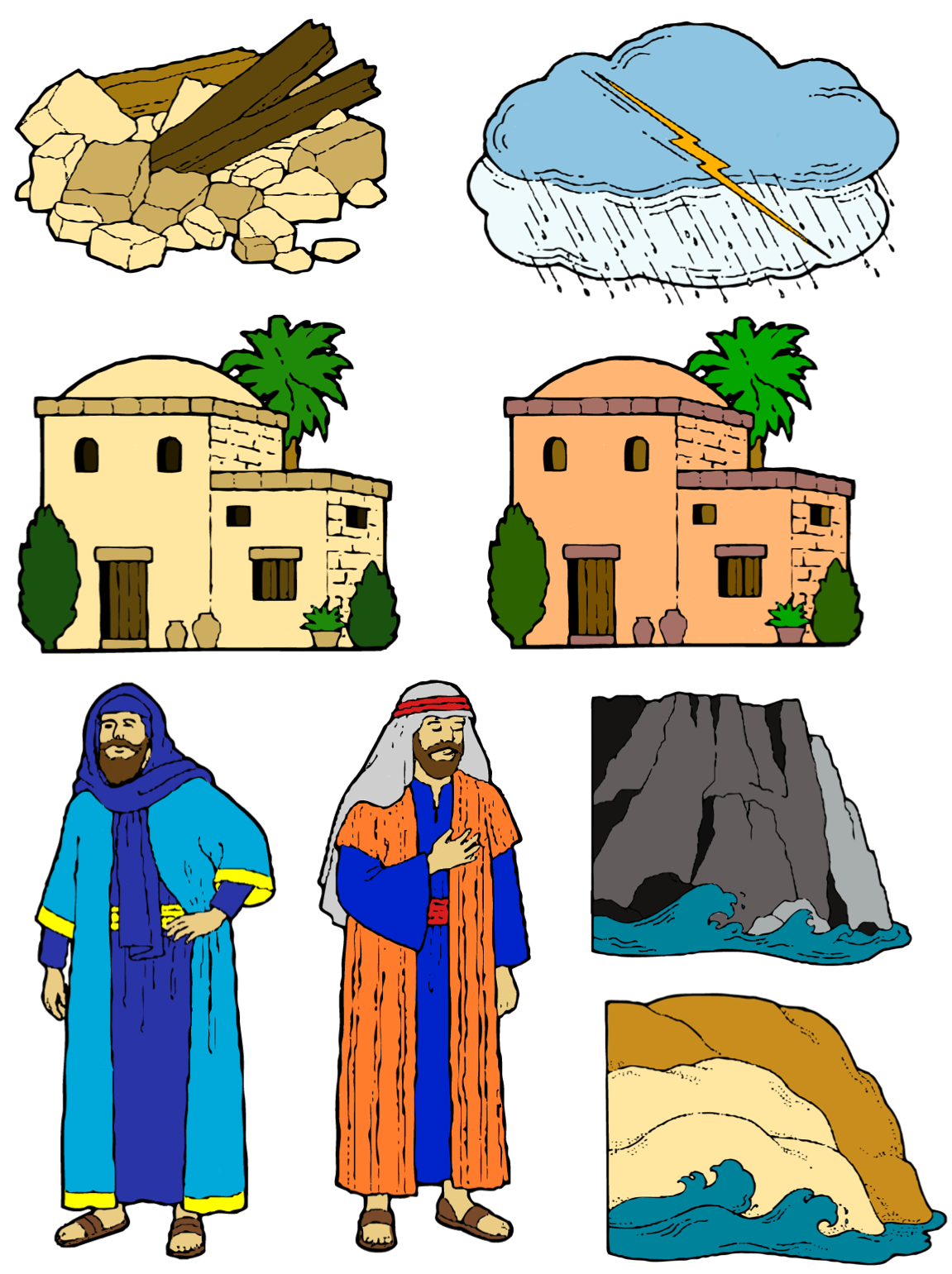 And On Parable Bible Wise House Of PNG Image