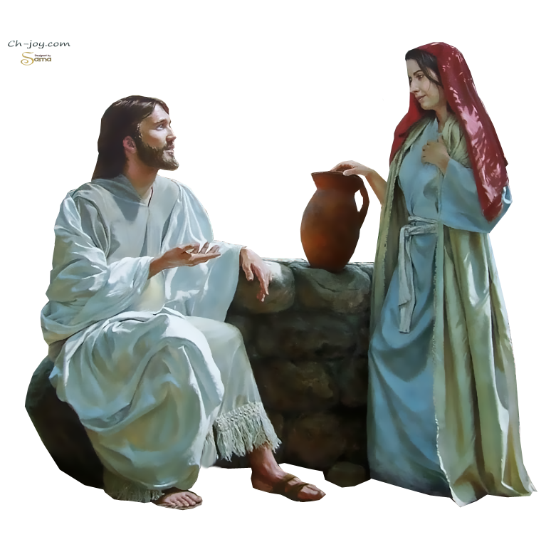Woman Samaria Youtube Samaritan Well Sychar Bible PNG Image