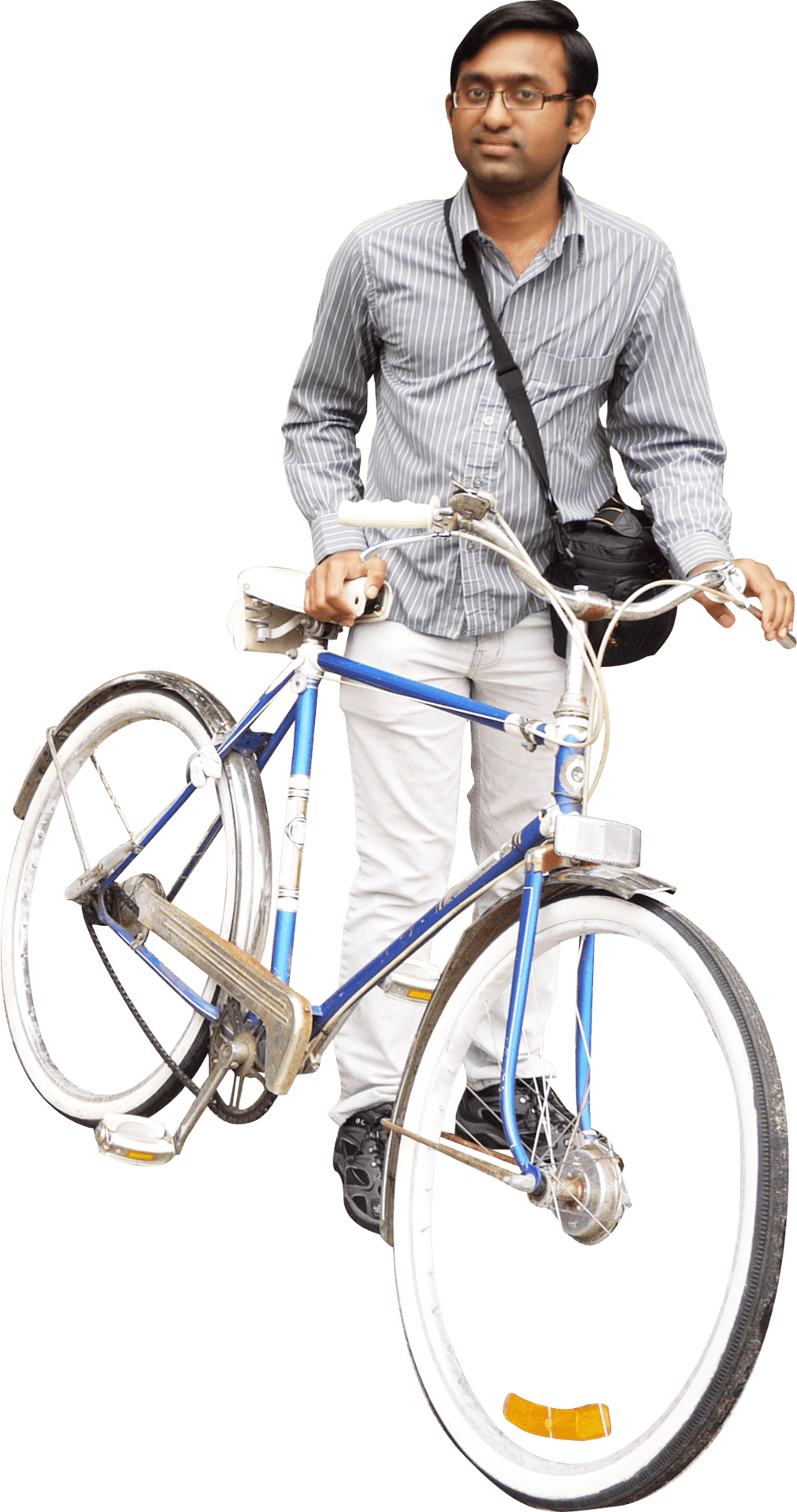 Man With Bicycle Png Image PNG Image