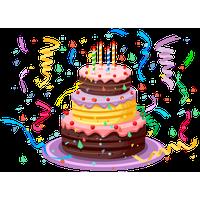 Cartoon Birthday Cake Olive Green