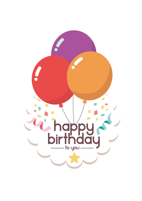 Vector Balloon Birthday Balloons Happy Free Clipart HQ PNG Image