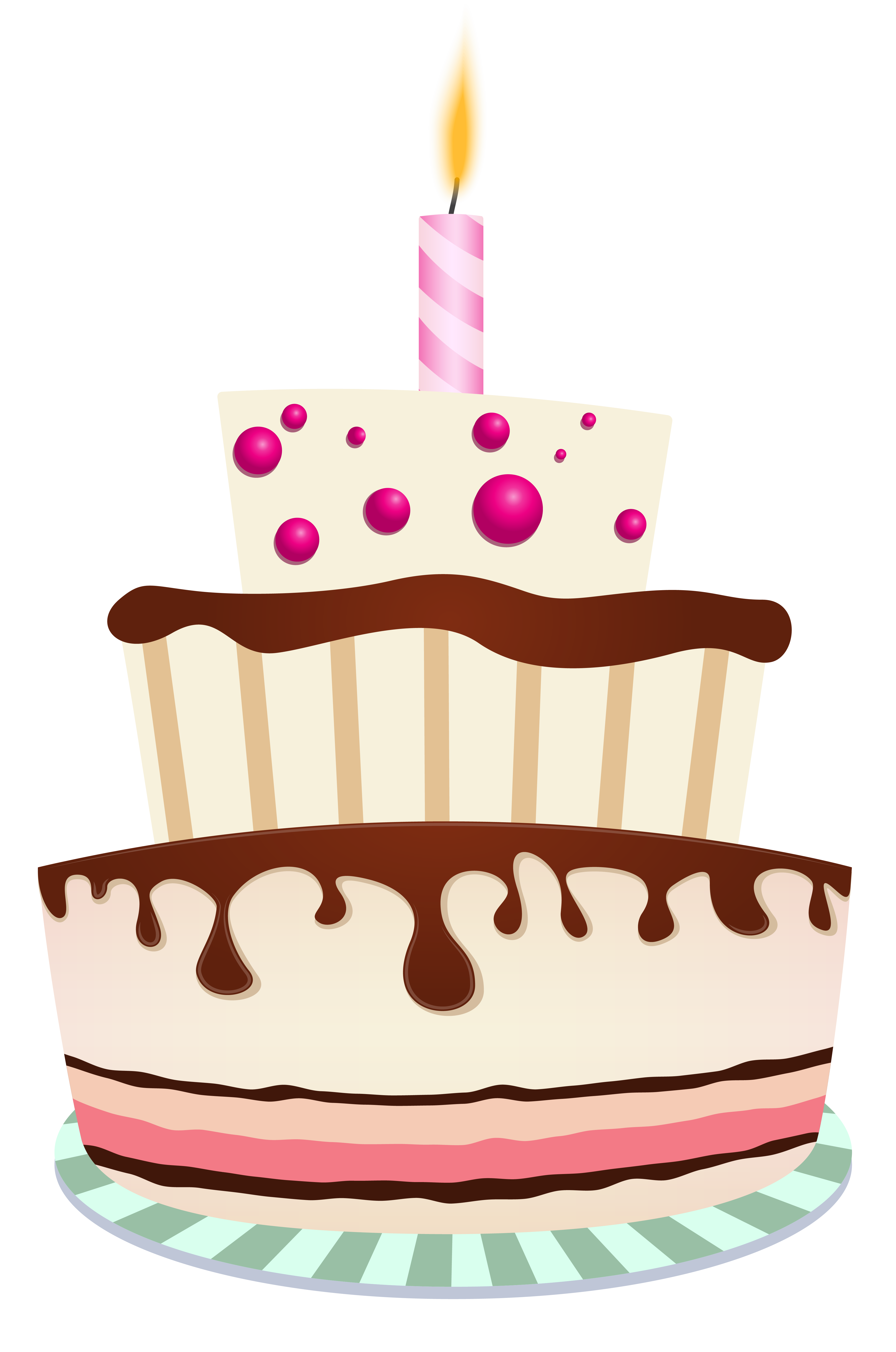 One Birthday Cake Candle Chocolate With PNG Image