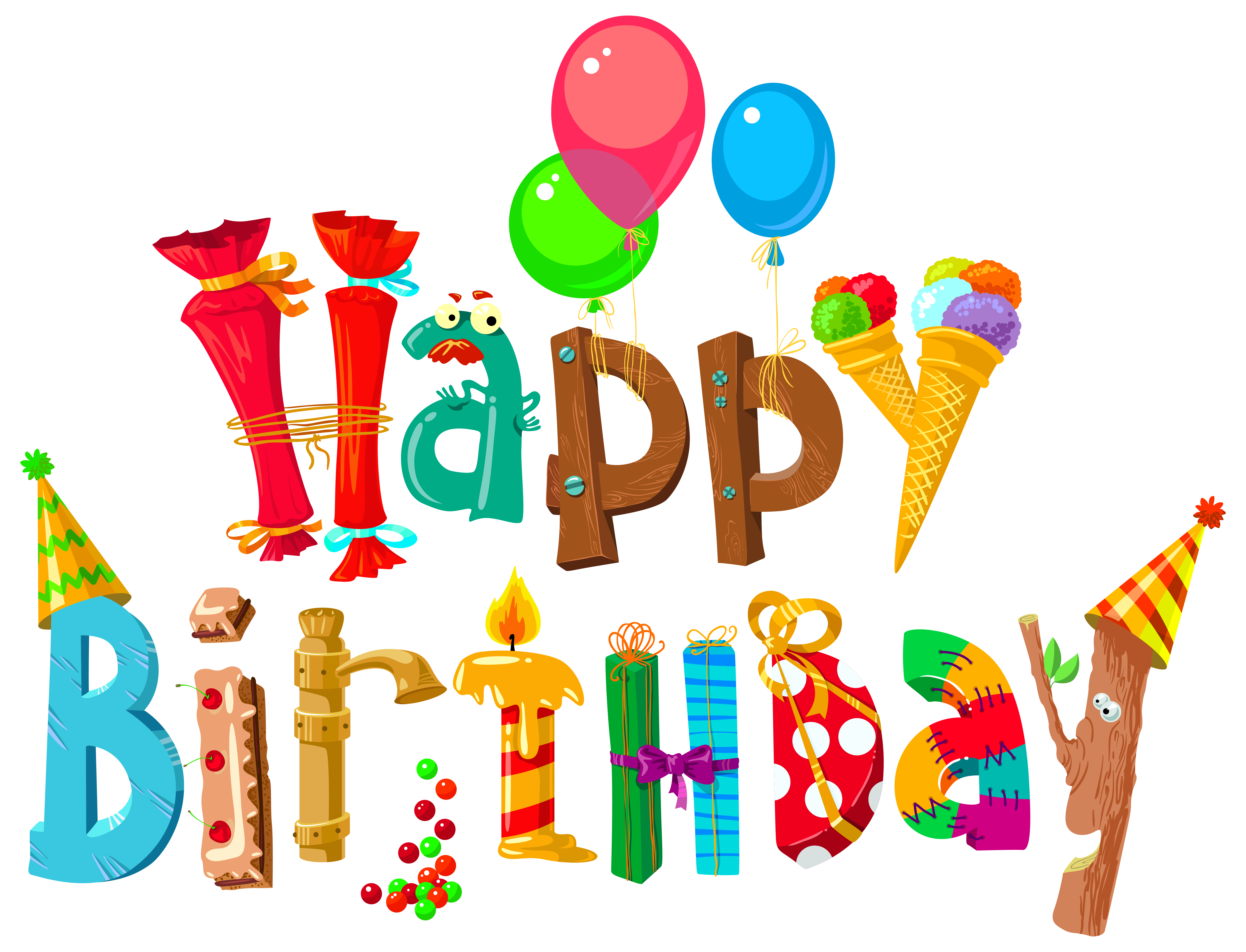Cake Wish Birthday Happy Funny Free Clipart HD PNG Image