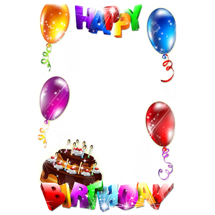 Cake Picture Frame Birthday Happy PNG Image High Quality PNG Image