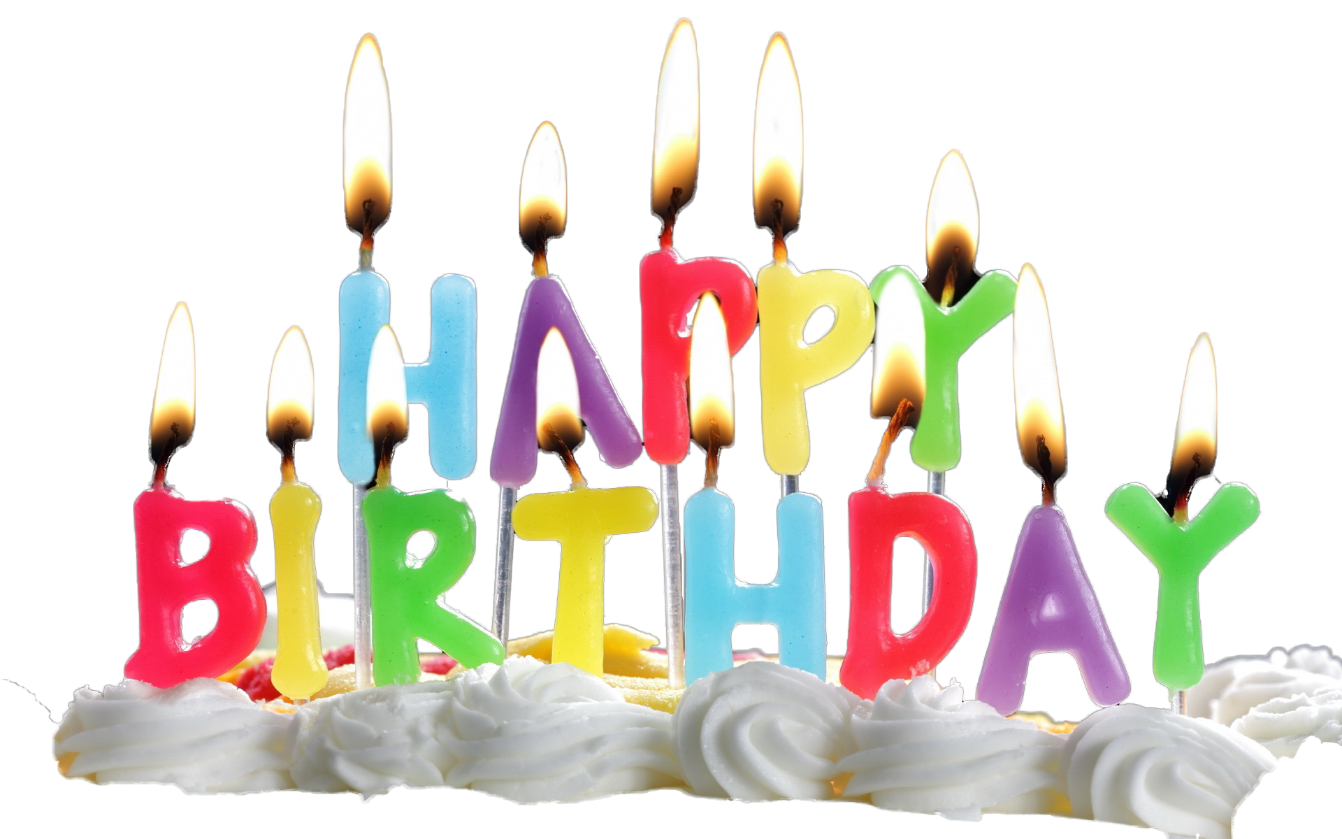 Birthday Candles Transparent PNG Image