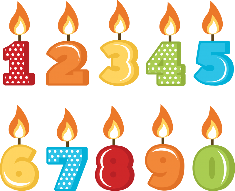 Birthday Candles Png File PNG Image