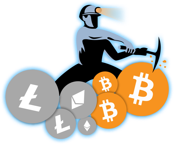 Cryptocurrency Mining Bitcoin Cloud Network Free HD Image PNG Image