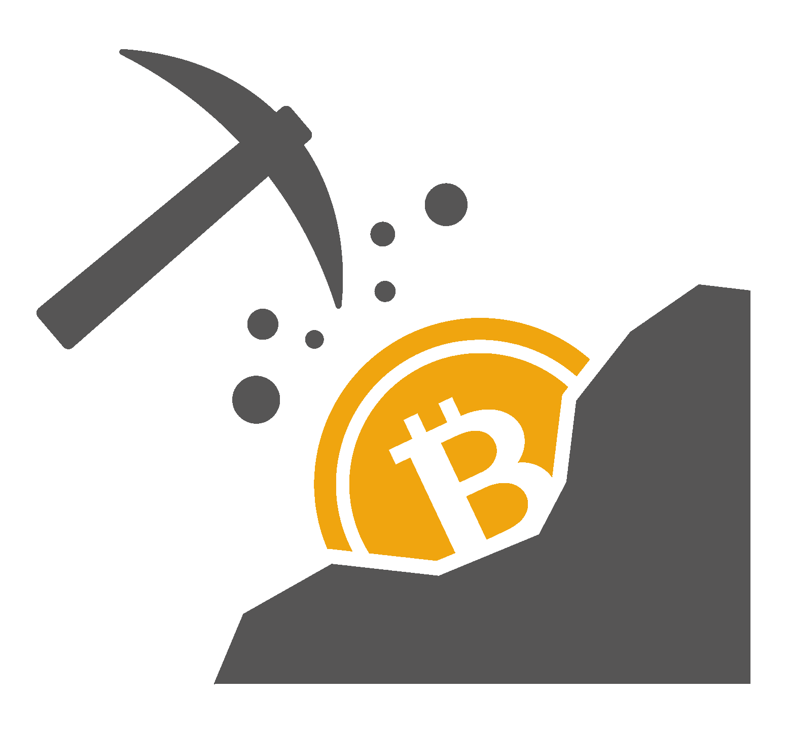 Mining Network Mines Bitcoin Cryptocurrency Cloud PNG Image