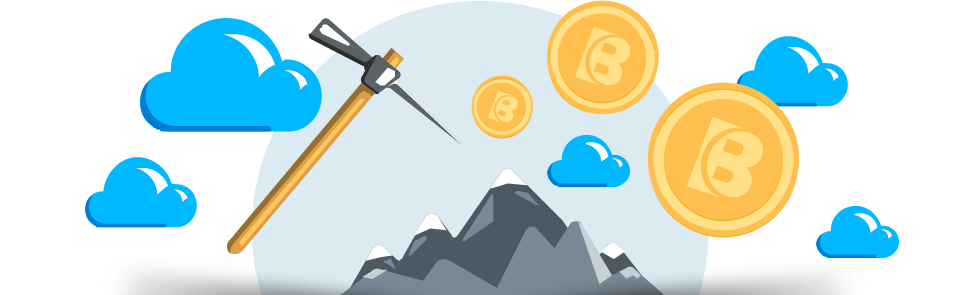 Cryptocurrency Mining Bitcoin Cloud Network Free Download Image PNG Image