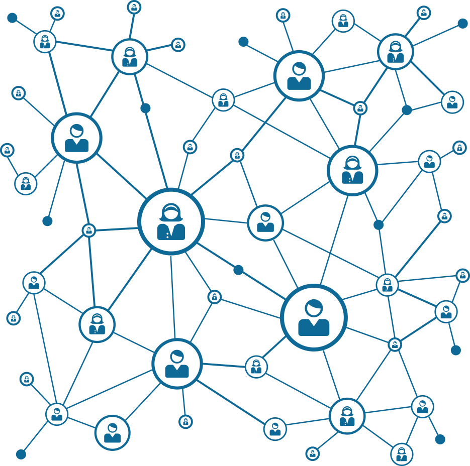 Vector Network Service People Blockchain Bitcoin Cryptocurrency PNG Image