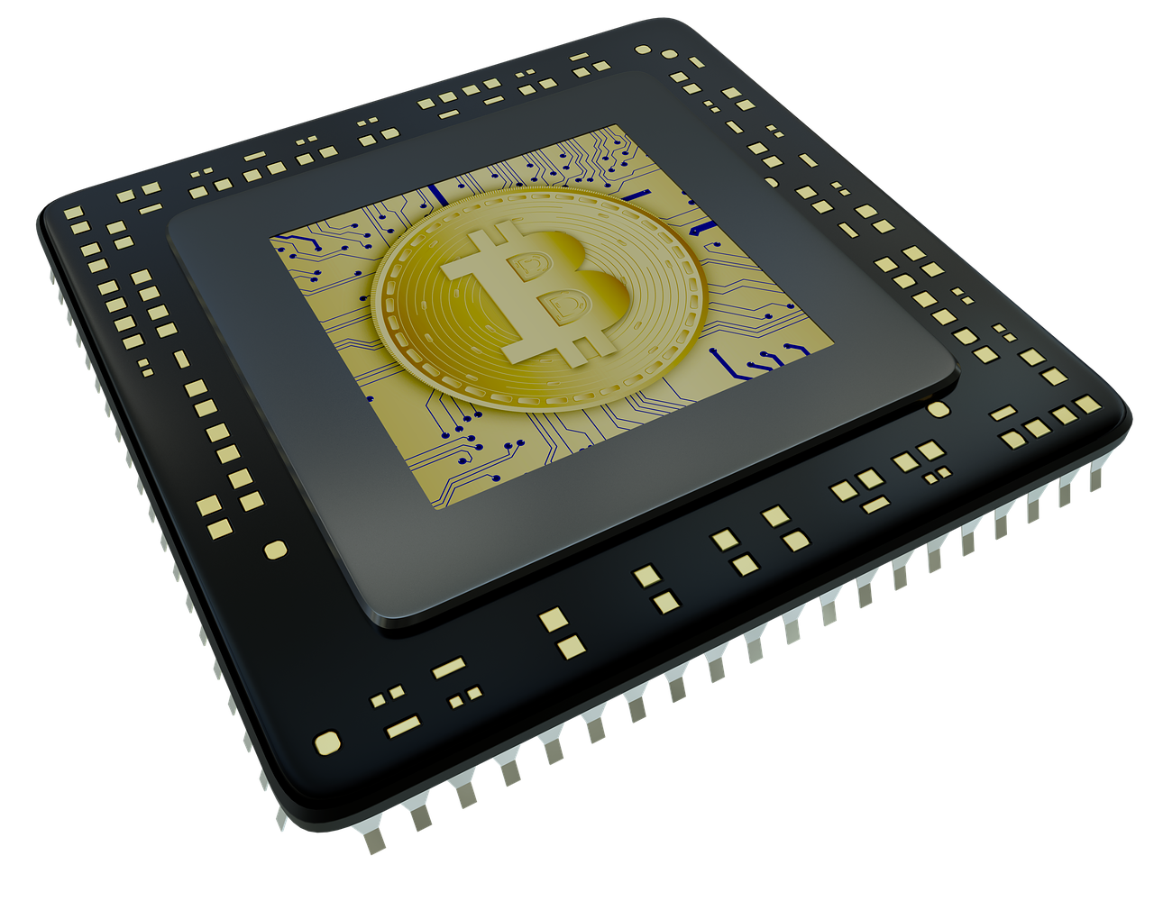Mining Application-Specific Microcontroller Bitcoin Cryptocurrency Circuit Integrated PNG Image