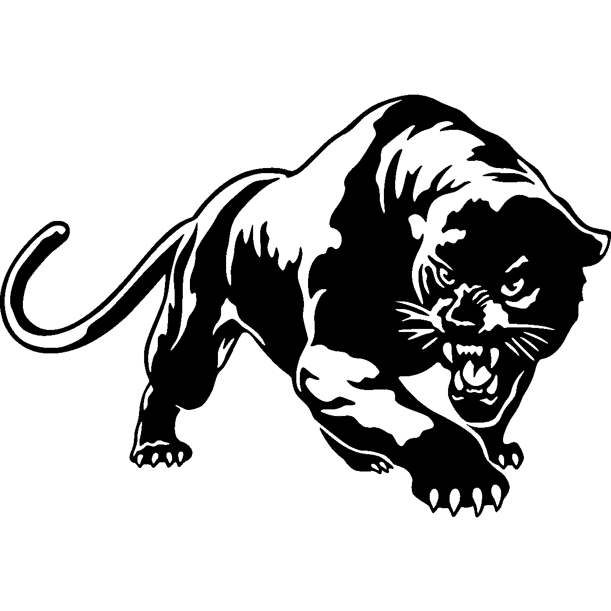 Panther Wall Car Sticker Decal Black PNG Image