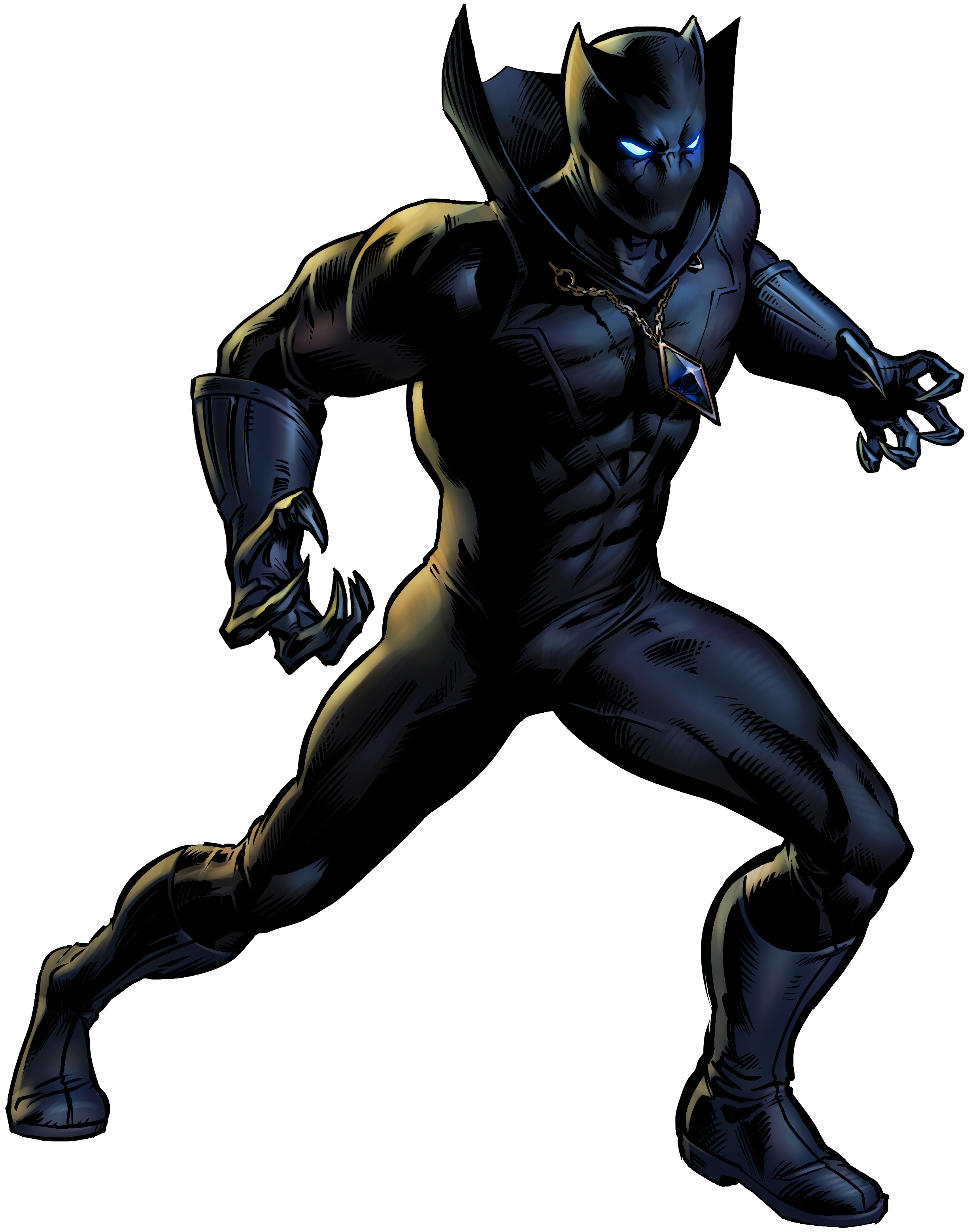 Superhero Panther Character Fictional Book Black Comic PNG Image