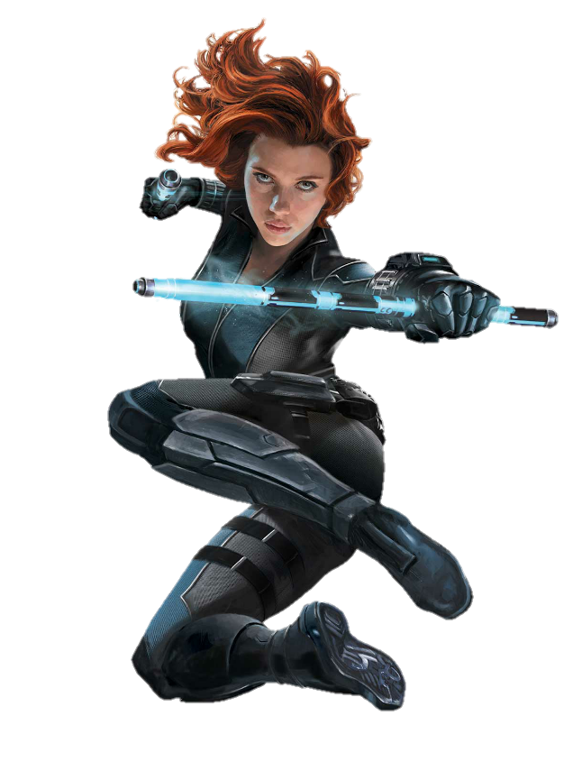 Black Widow Transparent Background PNG Image