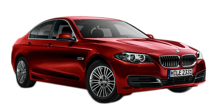 Series Mid-Size Five Bmw Car Sedan Red PNG Image