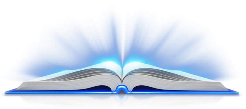 Open Book Light PNG Image