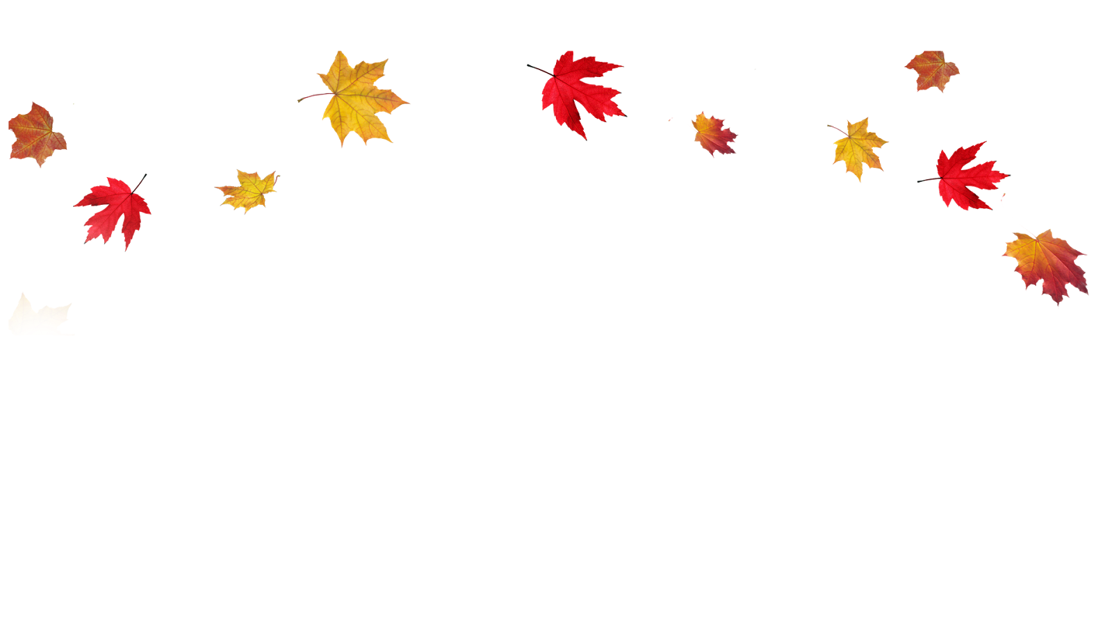 Transparent Fall Leaves Border PNG Image