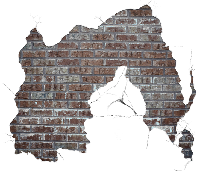 Stone Cracks Wall Walls In The Brick PNG Image